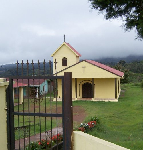 Coffee Country Church with Cooling Clouds�